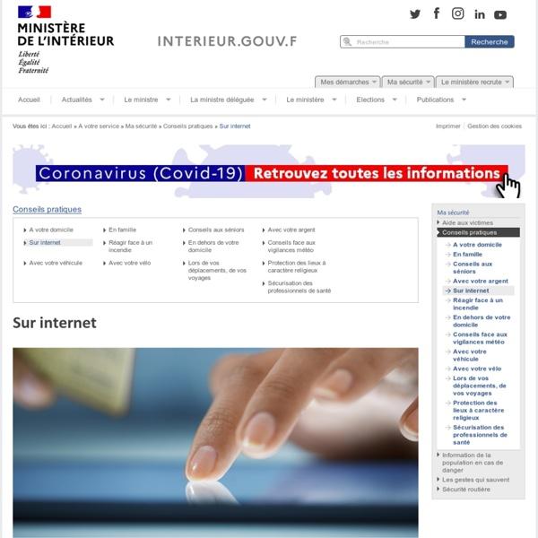 Sur internet / Conseils pratiques / Ma sécurité
