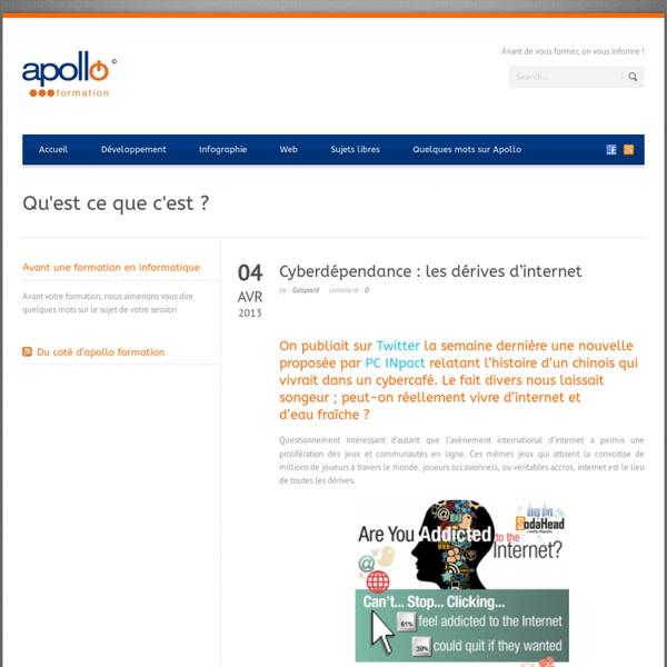 Les dérives d'internet : la cyberdépendance