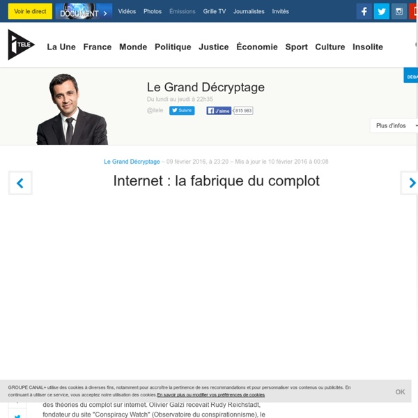 Internet : la fabrique du complot - Le Grand Décryptage