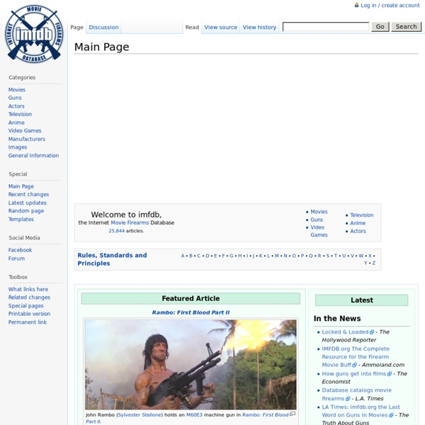 Internet Movie Firearms Database - Guns in Movies, TV and Video Games