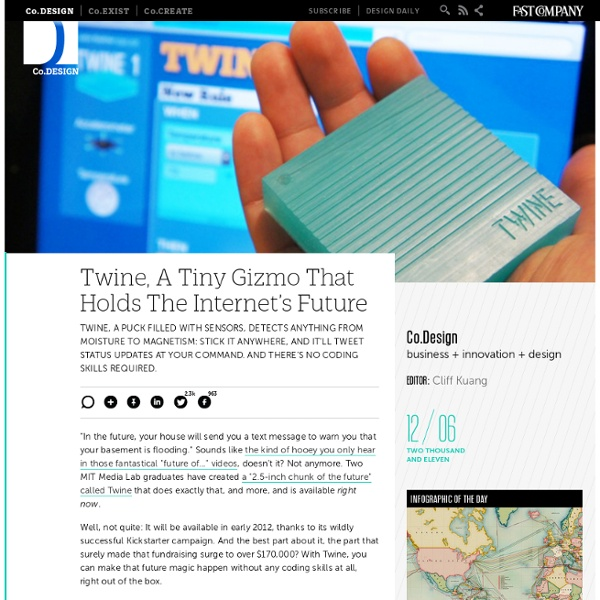 Twine, A Tiny Gizmo That Holds The Internet's Future