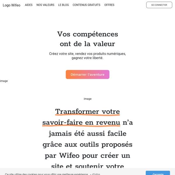 Faire un site gratuitement avec Wifeo