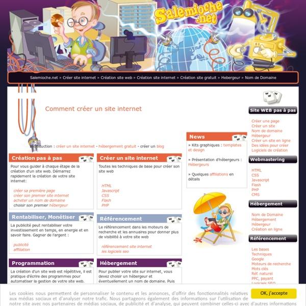 Créer un site internet gratuitement, création site web
