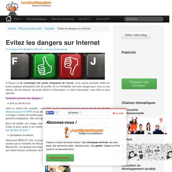 Evitez les dangers sur Internet - devenez un pro du web !