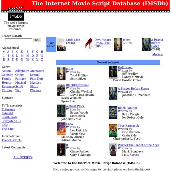 The Internet Movie Script Database (IMSDb)