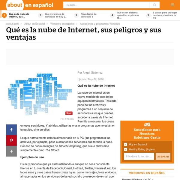 Qué es la nube de Internet, sus peligros y sus ventajas