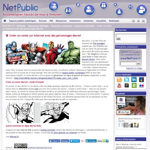 Créer un comic sur Internet avec des personnages Marvel