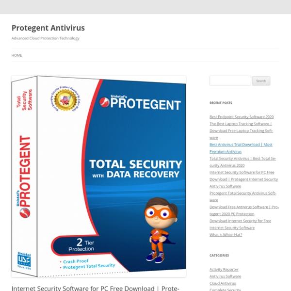 Protegent Internet Security Antivirus Software