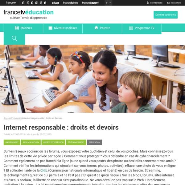 Internet responsable : droits et devoirs