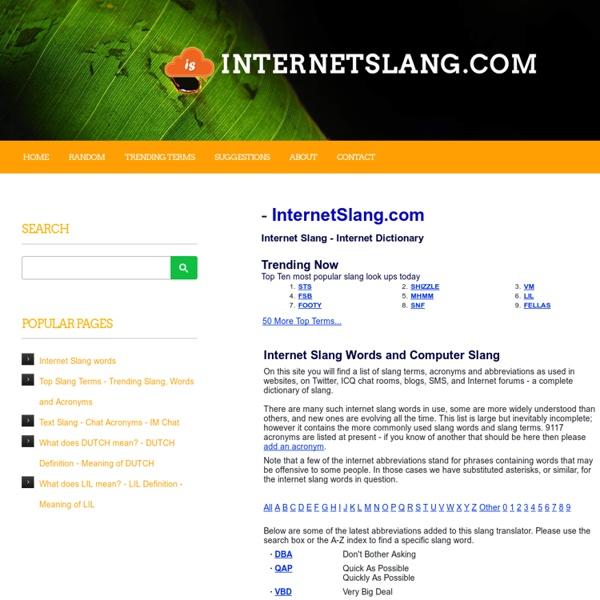 Internet Slang | Pearltrees
