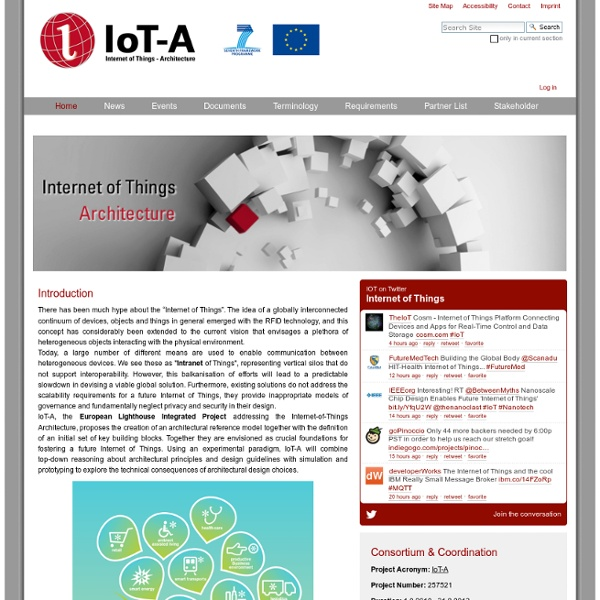 Internet Of Things   Architecture U2014 IOT A: Internet Of Things Architecture