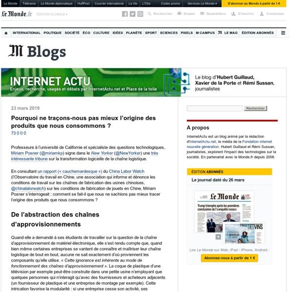 InternetActu.net sur LeMonde.fr