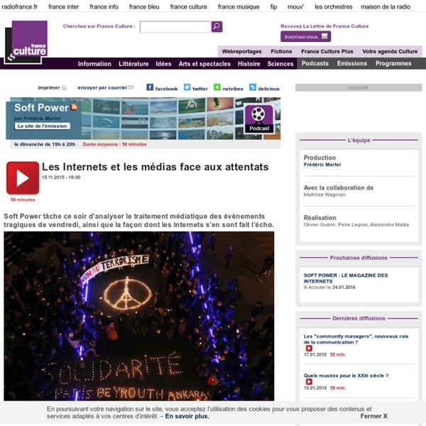 Les Internets et les médias face aux attentats