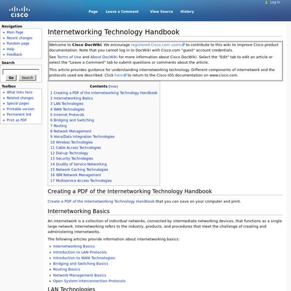 Internetworking Technology Handbook
