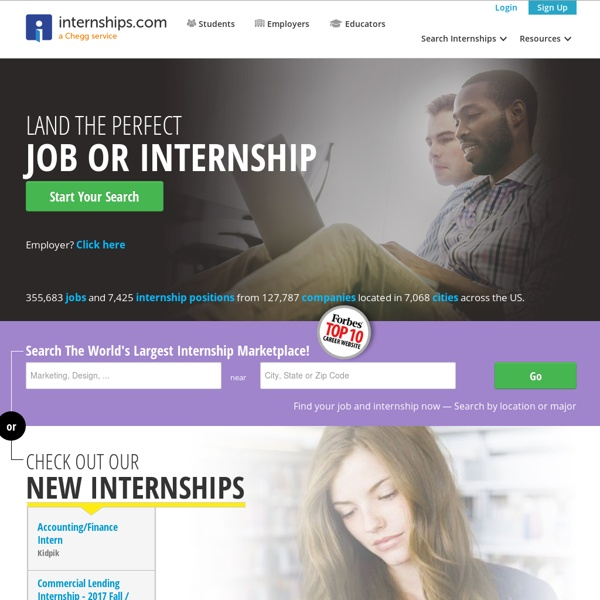 Internships – Internship Search and Intern Jobs