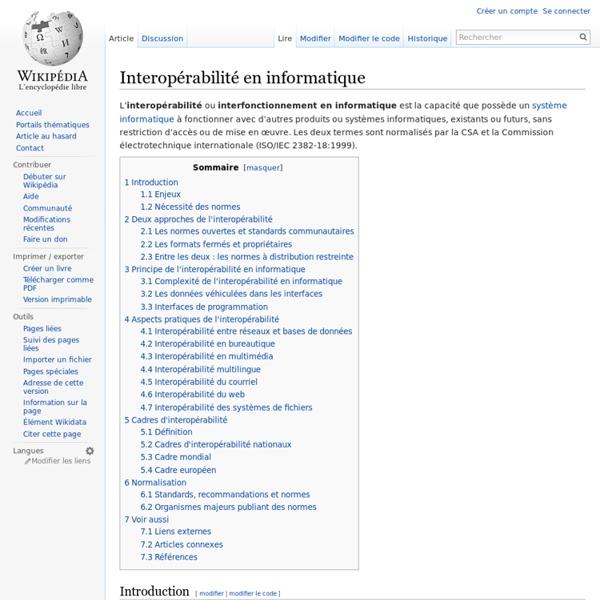 Interopérabilité en informatique