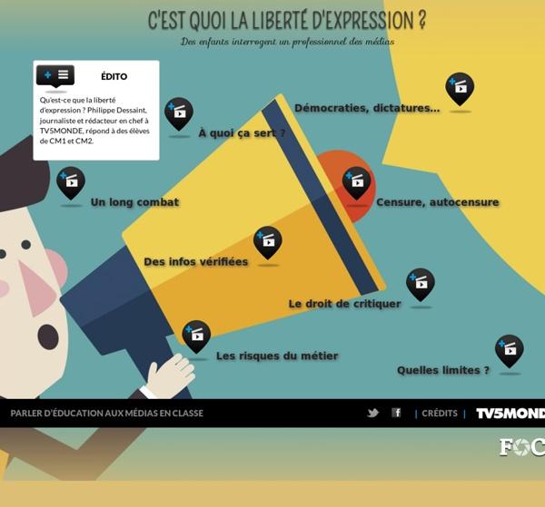 C'est quoi la liberté d'expression ? - Des enfants interrogent un professionnel des médias