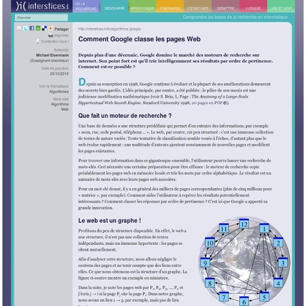 Comment Google classe les pages Web