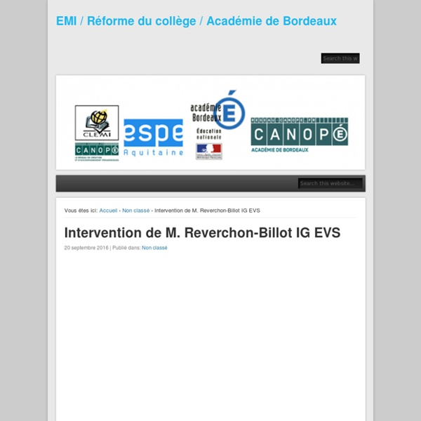 Intervention de M. Reverchon-Billot IG EVS