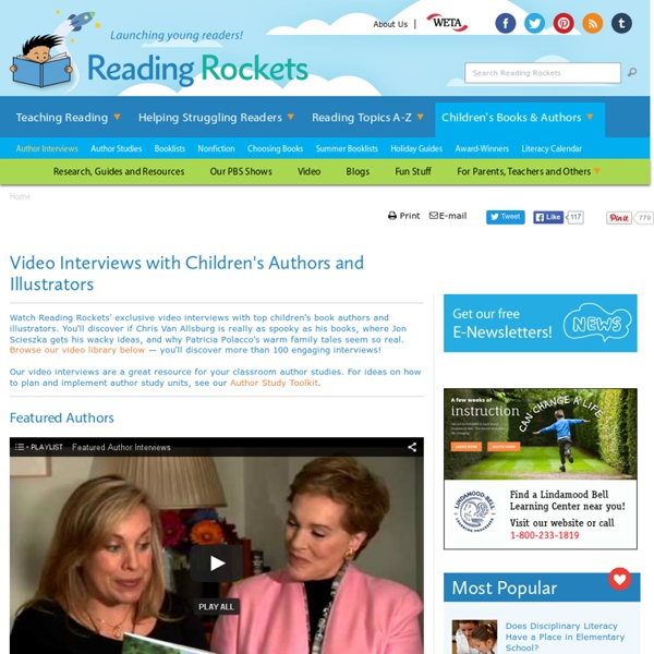 Video Interviews with Top Children's Book Authors and Illustrators