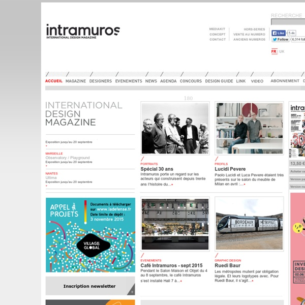 INTRAMUROS DESIGN MAGAZINE, LA RÉFÉRENCE DU DESIGN INTERNATIONAL