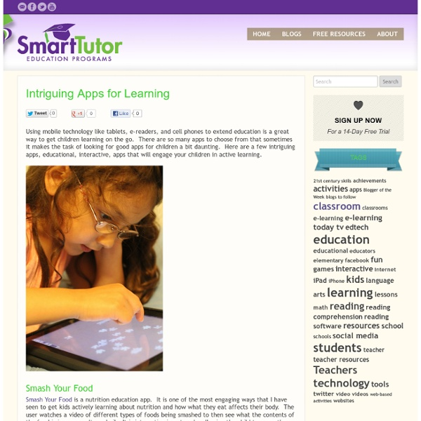 Intriguing Apps for Learning