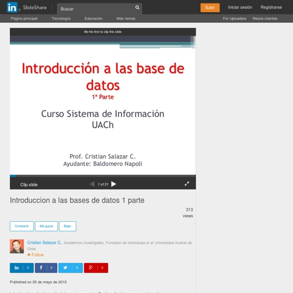 Introduccion a las bases de datos 1 parte
