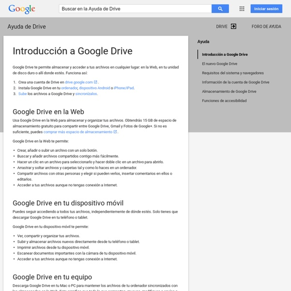 Introducción a Google Drive - Ayuda de Drive