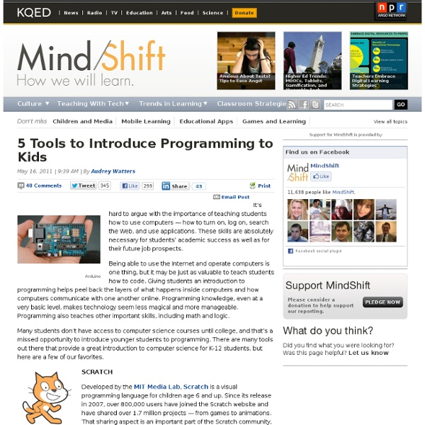 5 Tools to Introduce Programming to Kids