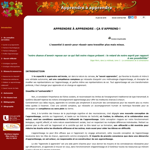 Apprendre à apprendre : Introduction