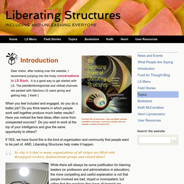 Liberating Structures - Introduction