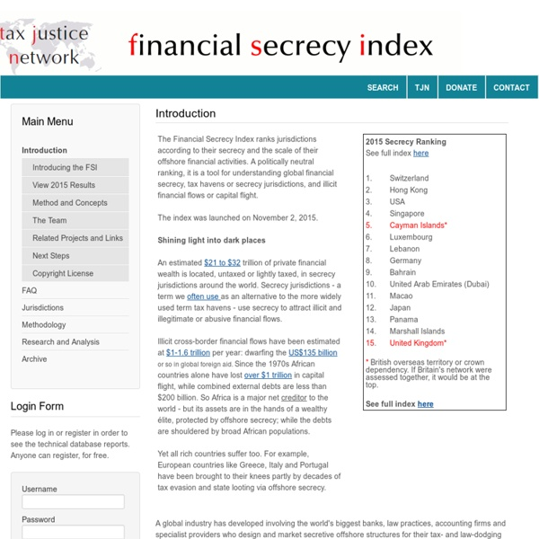 The Financial Secrecy Index