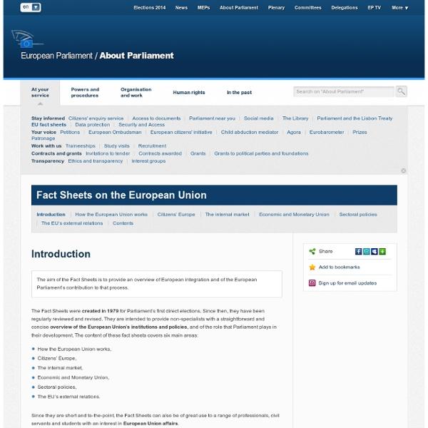 PARLEMENT EUROPÉEN: FICHES TECHNIQUES - 1.3.1. LE PARLEMENT EUROPÉEN: ÉVOLUTION HISTORIQUE