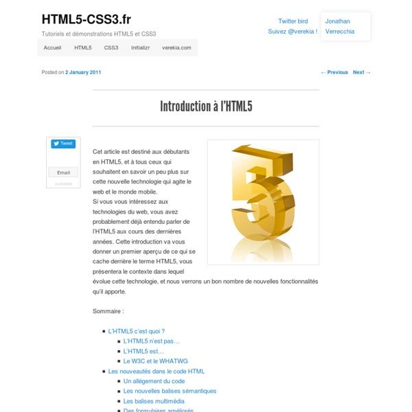 Introduction à l'HTML5