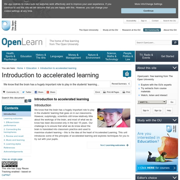 Introduction to accelerated learning - OpenLearn - Open University - TL_RE_T4