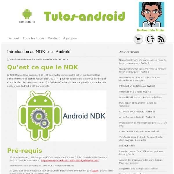 Introduction au NDK sous Android