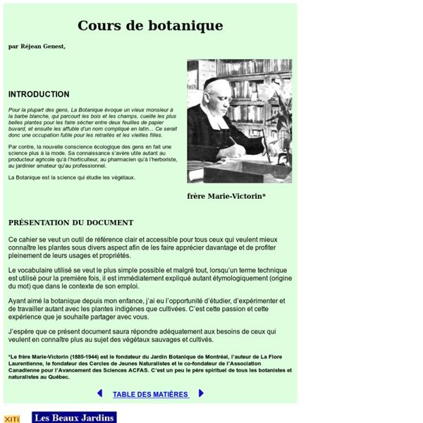 Introduction à la botanique