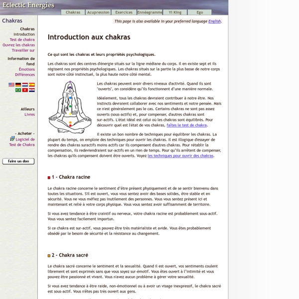 Introduction aux chakras
