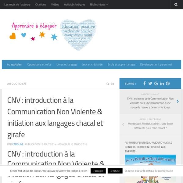 Introduction à la Communication Non Violente (CNV)