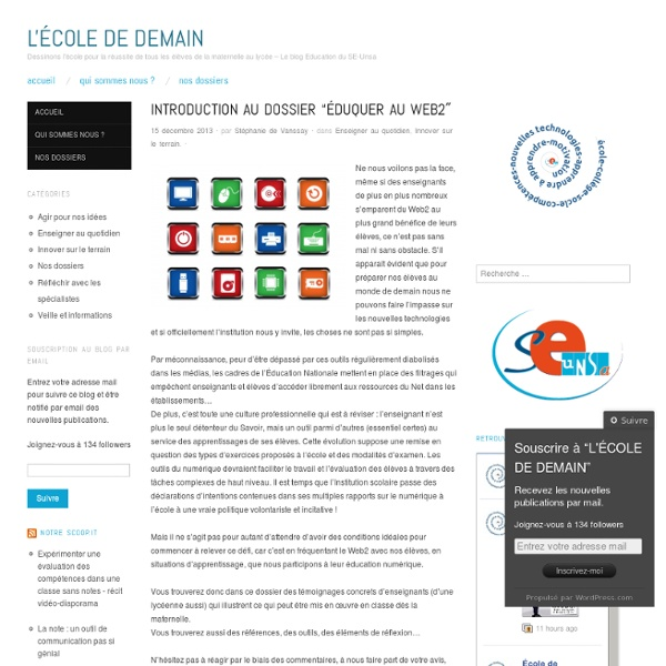 "Introduction au dossier ""Éduquer au Web2″"
