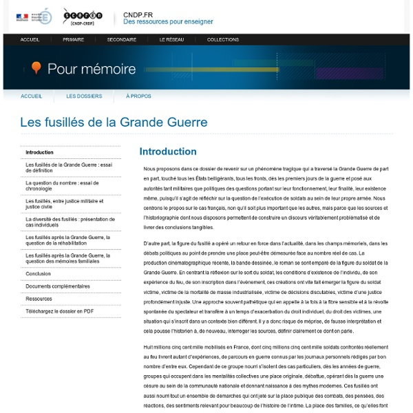 Introduction-Pour mémoire-Centre National de Documentation Pédagogique