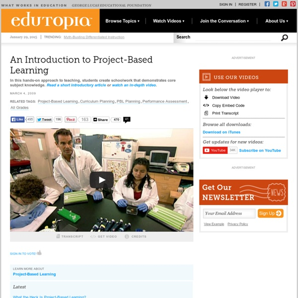 An Introduction to Project-Based Learning