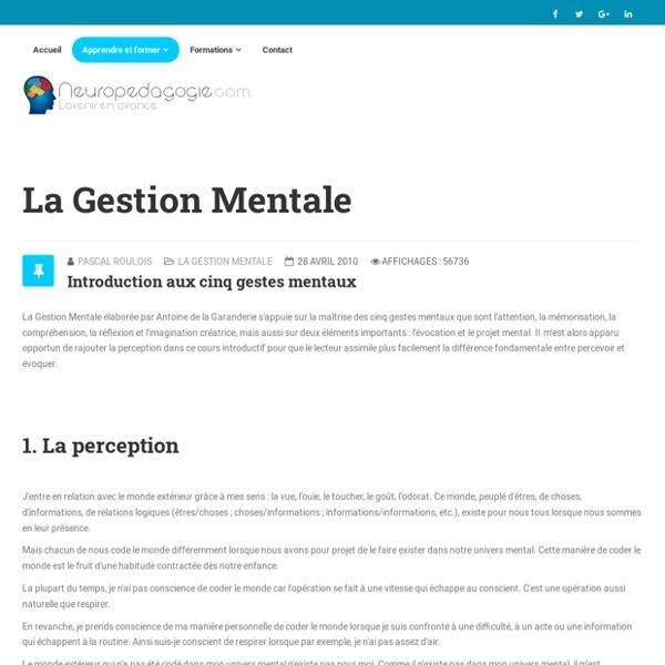 Introduction aux cinq gestes mentaux
