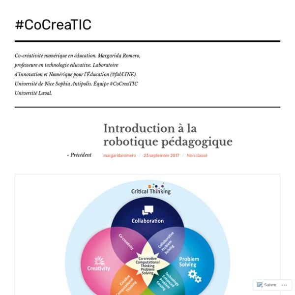 Introduction à la robotique pédagogique – #CoCreaTIC