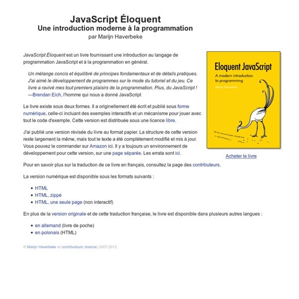 JavaScript Éloquent: Une introduction moderne à la programmation