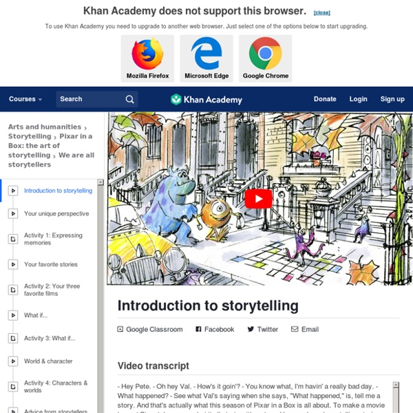 Introduction to storytelling