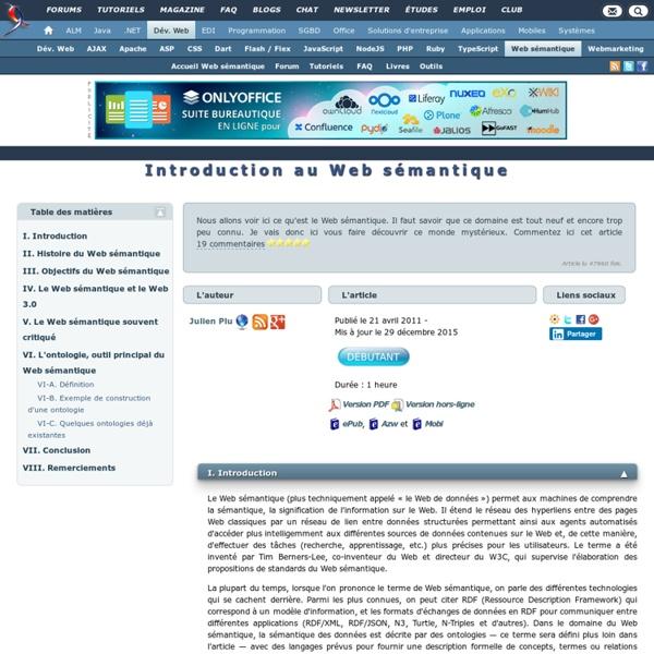 Introduction au Web sémantique