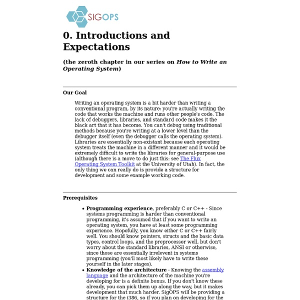 0. Introductions and Expectations