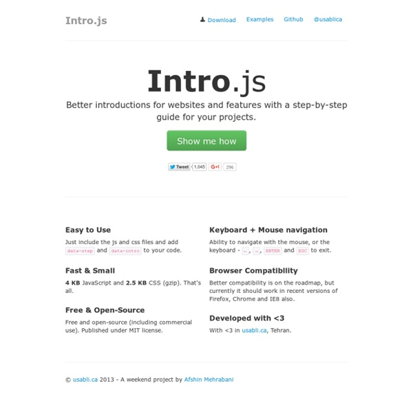 Better introductions for websites and features with a step-by-step guide for your projects.