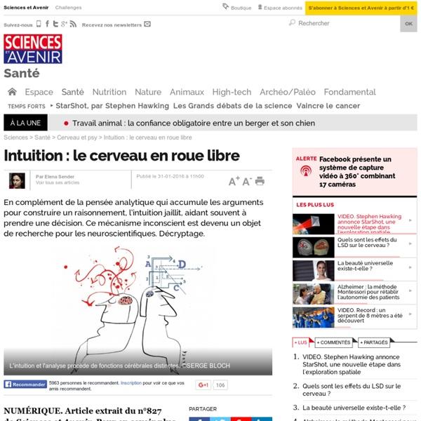 Intuition : le cerveau en roue libre